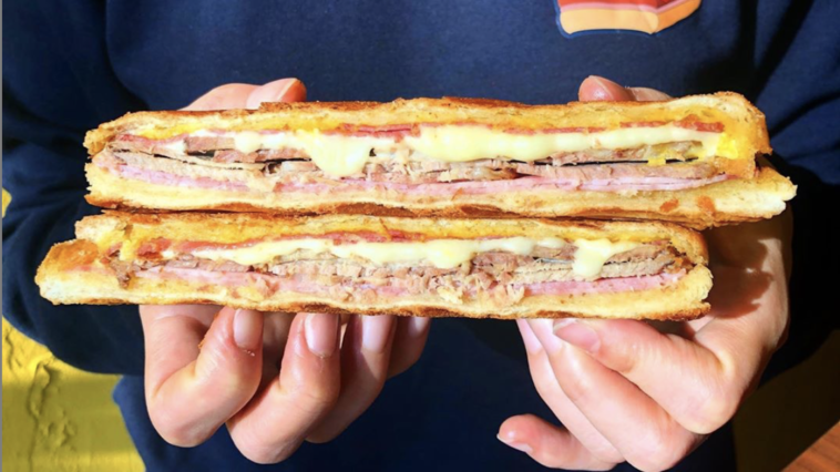Photo of a traditional Cuban sandwich