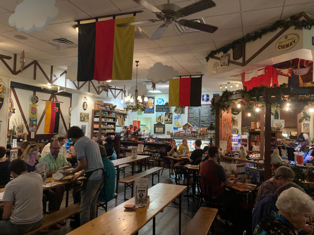 The interior of Mr. Dunderbak's restaurant