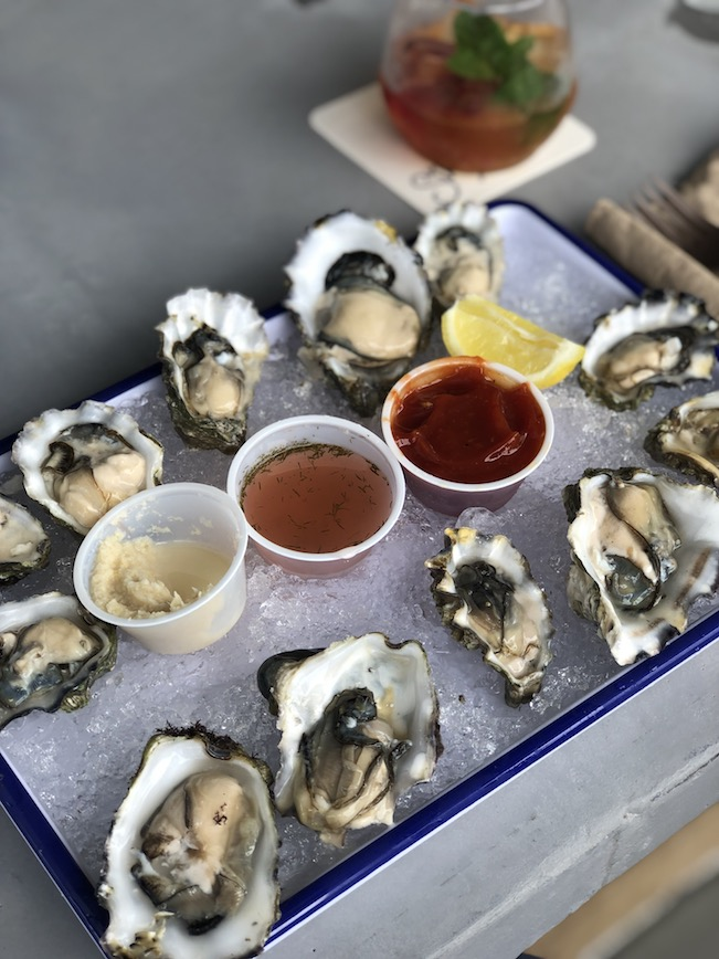Photo of oysters served at Stone's Throw