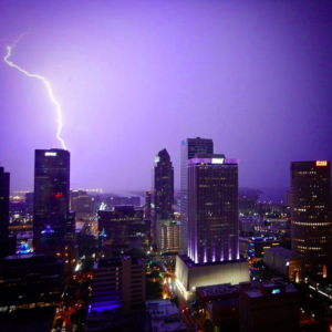 Photo of lightning over Tampa