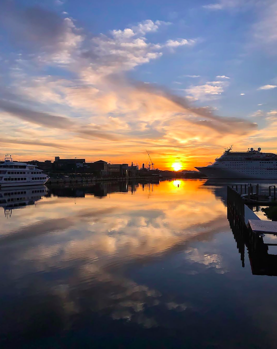 Photo of sunset in Tampa