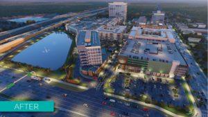 Rendering of Tampa's new urban district, Midtown Tampa