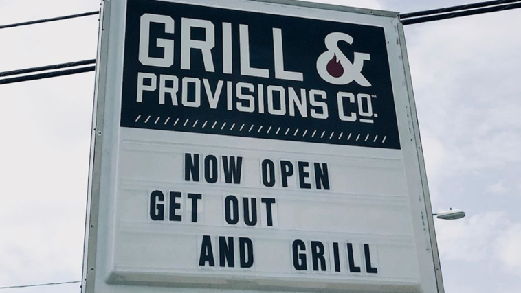 Sign outside Grill & Provisions in Tampa