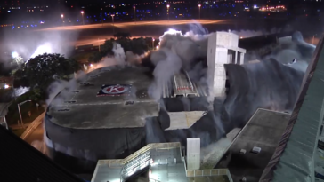 Tampa International Airport implodes red side garage.