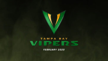 The new logo for the Tampa Bay Vipers, Tampa's XFL team