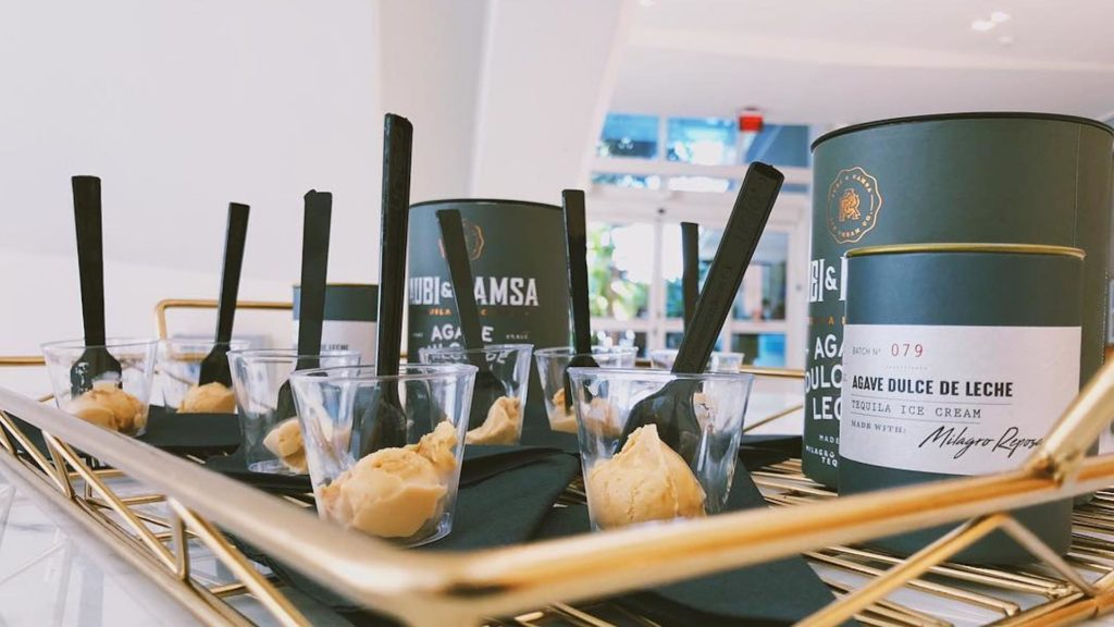 Image of tequila-infused ice cream samples