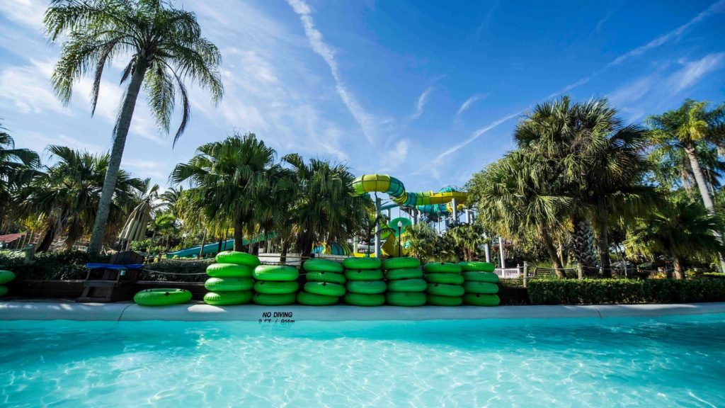 Inside the Wave Pool at Adventure Island Water Park