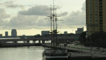 Photo of giant sailboat docked at Bayshore Boulevard