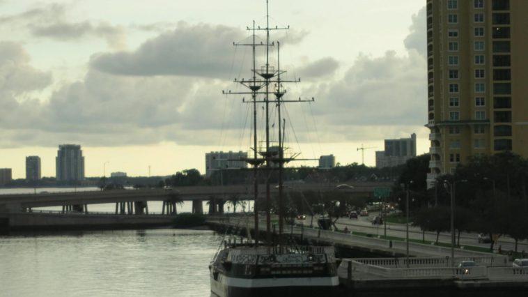 Photo of giant sailboat docked at Bayshore Boulevard