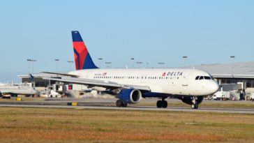 Photo of a large Delta airplane