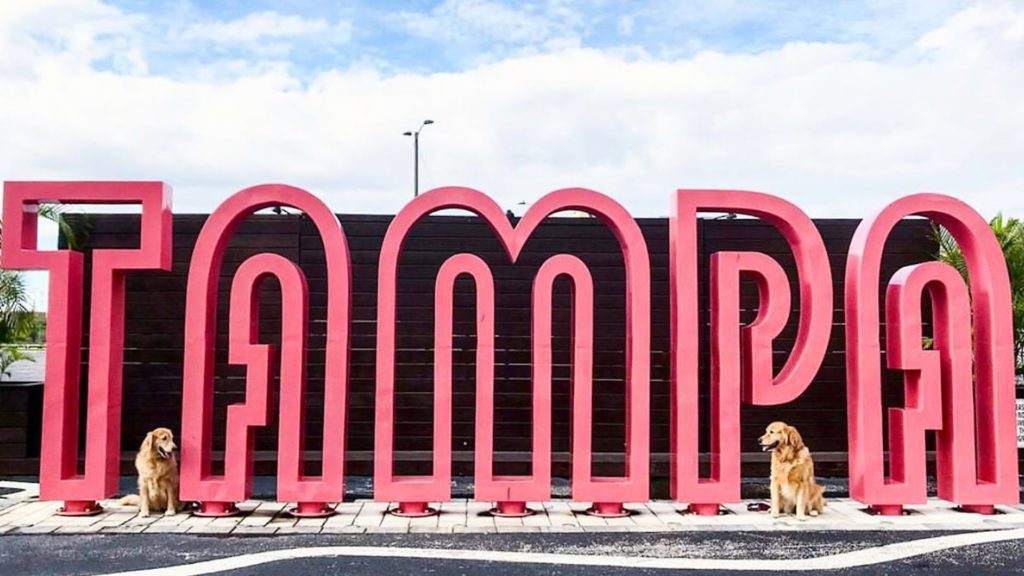 Giant Pink Tampa Sign