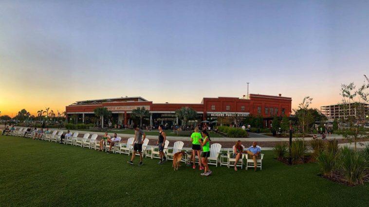 Photo outside massive food hall