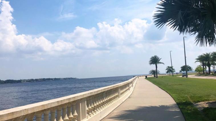 Photo of waterfront sidewalk