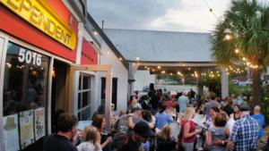 Outdoor beer garden in Tampa