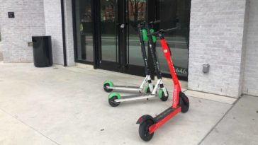Photo of 3 electric scooters