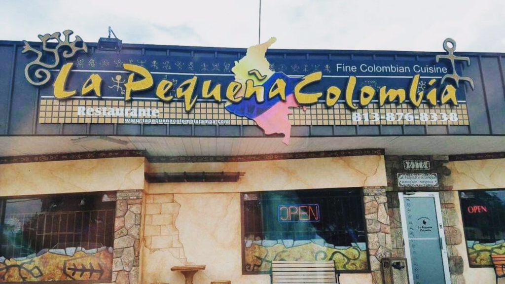 Exterior of Colombian Restaurant