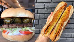 Photo of 2 vegan burgers