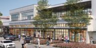 Rendering of new cowork space in Hyde Park Village
