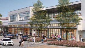 Rendering of new cowork space in Hyde Park Village