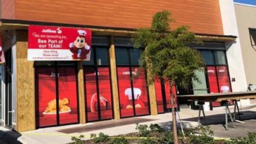 Exterior of a new fast food restaurant