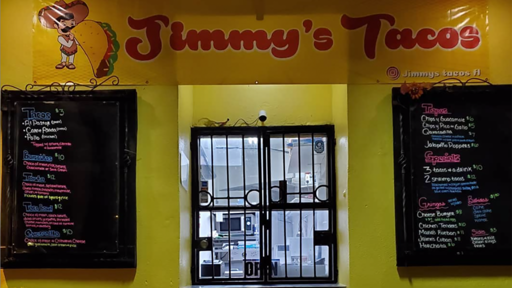 Photo of the exterior of Jimmy's Tacos