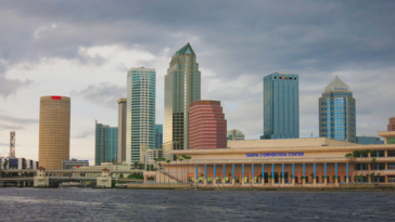 Tampa Skyline at Sunset