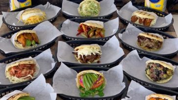 Selection of more than a dozen different arepas