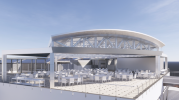 Rendering of new rooftop access area at The Florida Aquarium