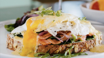 Photo of avocado toast topped with a fried egg