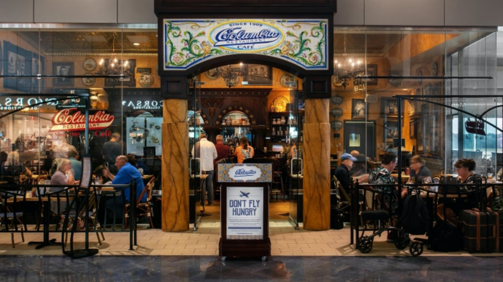 Exterior of a restaurant at an airport