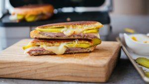 Photo of a pressed Cuban sandwich