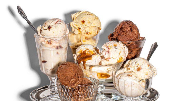 An assortment of Ice Jeni's Ice Cream Flavors