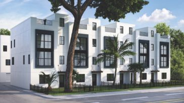 Rendering of a new 3-story luxury Town Home Development in Tampa