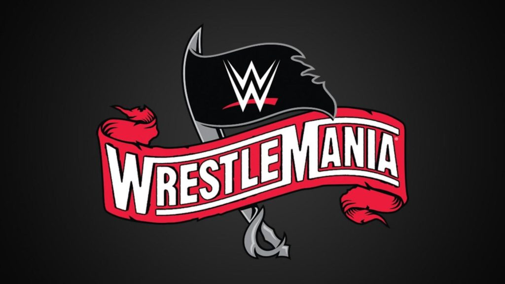 WrestleMania Logo with Pirate Flags