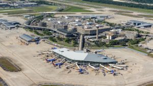 Aerial view of Tampa International Airport