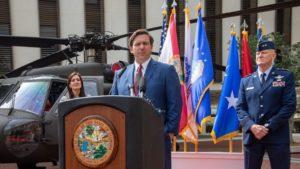Photo of Florida Governor at podium