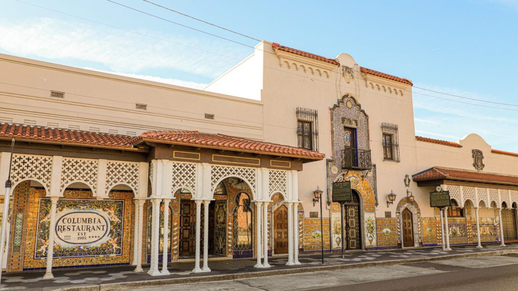 Exterior of a historic restaurant in Ybor City