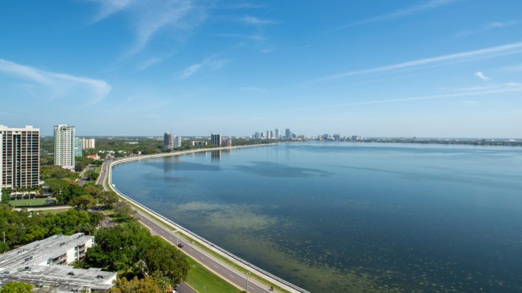 View from the top of a new condo tower on Bayshore Boulevard
