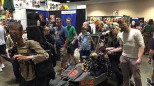 Mad Max Fury Road Cosplayers pose at Comic Con circa 2015