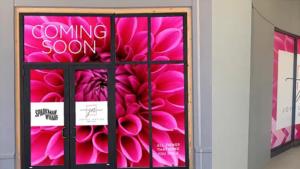 Exterior of a new flower bar