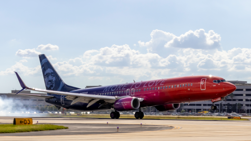 Photo of an Alaska Airlines airplane