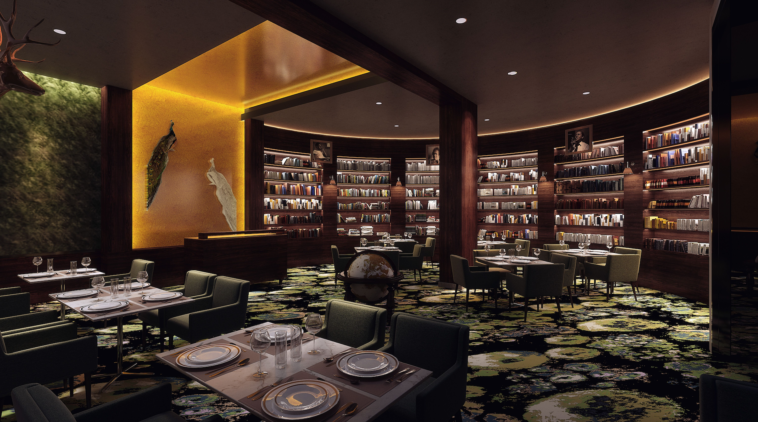 Rendering of a Cuban cafe and bar