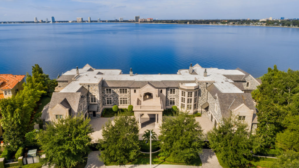 aerial view of Derek Jeter's massive home for sale