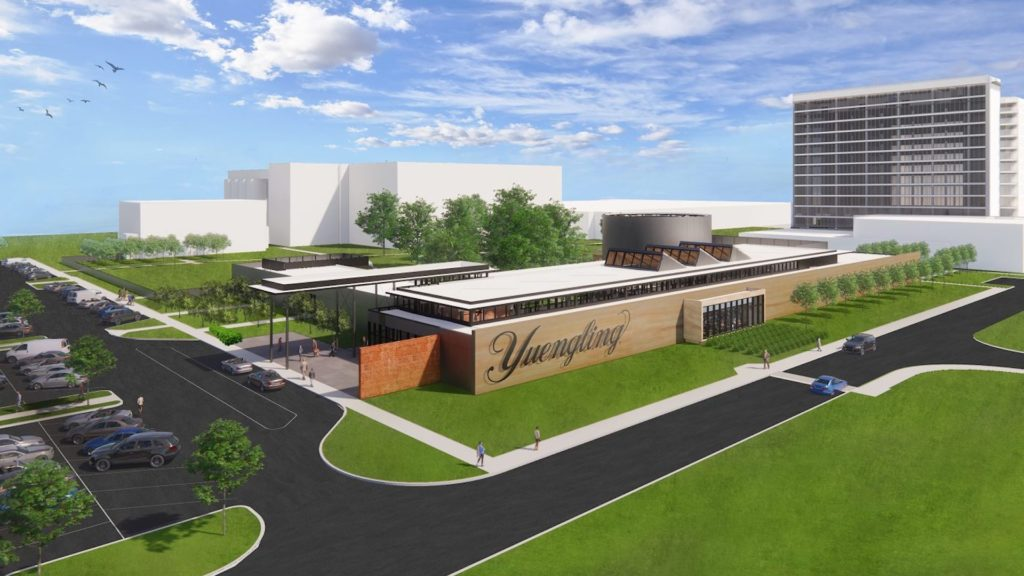 Rendering of a massive brewing arts campus