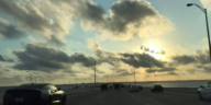 Photo of sunset on the Howard Frankland Bridge