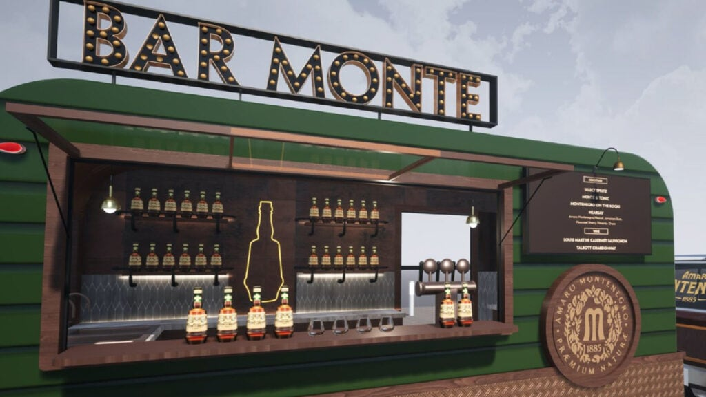 rendering of a traveling bar