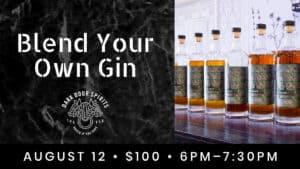 Blend your own gin experience at Dark door Spirits