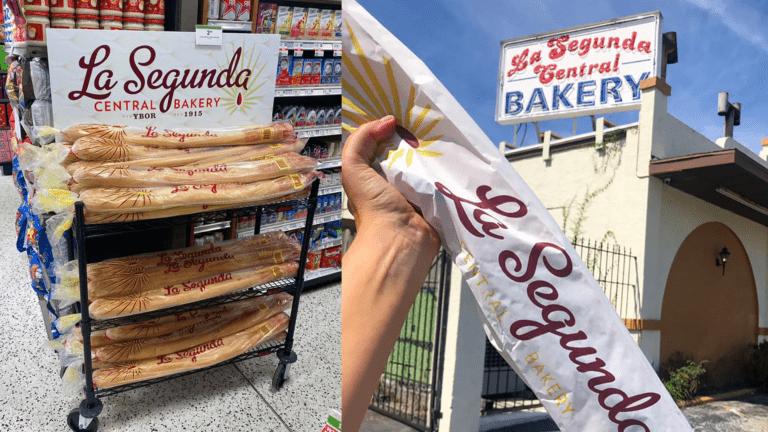 long loaves of Cuban bread on shelves